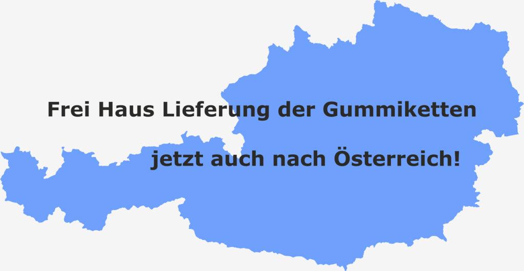 Gummiketten Frei Haus Lieferung nach Österreich